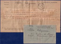 Télégramme Officiel Du Camp De Mailly Pour Toulon (tàd 11.11.1914) Texte Intéressant Concerne Les Volontaires Italiens - Télégraphes Et Téléphones