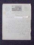 DIJON (21): Lettre à En-tête 1884 Négociant Et Distillateur PERDRIZET - Cassis De Dijon - Place Darcy Et Rue Devosge - Old Paper