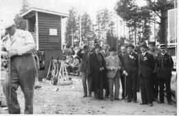 HELSINKI (Finlande) Photographie Concours De Tir Ball Trap 1937 Visite Du Député Carnot - Finlande