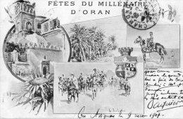 ORAN (Algérie) Carte Illustrée Fetes Du Millénaire D'Oran - Oran
