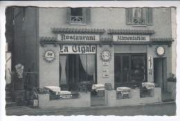"""Cpsm Dentelée : """" RESTAURANT BAR ALIMENTATION La CIGALE - Le TRAYAS """" RARE - Publicité Rasurel -non Circulé - Ed. C.A.P. - Saint-Raphaël"""