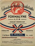 """ETIQUETTE ANCIENNE De BOITE """" De FORMALYNE PUISSANT DESINFECTANT """" - R. Michel Grenoble - Parfait état - - Advertising"""