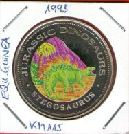 Guinea Ecuatorial / Equatorial Guinea - 1000 Francos 1993 KM#115 Cu-Ni Proof  STEGOSAURUS - JURASSIC DINOSAURS - Equatorial Guinea