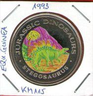 Guinea Ecuatorial / Equatorial Guinea - 1000 Francos 1993 KM#115 Cu-Ni Proof  STEGOSAURUS - JURASSIC DINOSAURS - Guinea Ecuatorial