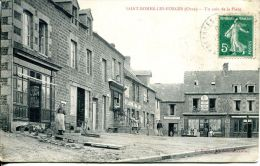 N°35485 -cpa Saint Bomer Les Forges -un Coin De La Place- - France