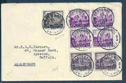 Lettre De Oostende à Suffolk ( Angleterre UK ) 1931 - Belgique