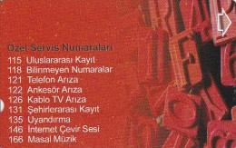 Turkey, N-429, Special Service Numbers-2, 2 Scans. - Turkije