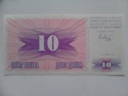 Billete Bosnia Y Hercegovina. 10 D. 1992. - Bosnia Y Herzegovina
