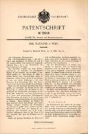 Original Patentschrift - Emil Teltschik In Wien , 1894 , Tintenfaß , Tinte , Tintenfass !!! - Tintenfässer
