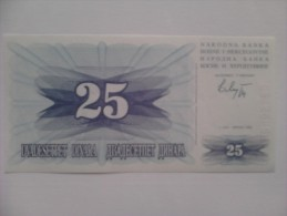 Billete Bosnia Y Hercegovina. 25 D. 1992. - Bosnia Y Herzegovina