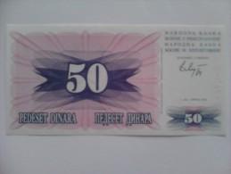 Billete Bosnia Y Hercegovina. 50 D. 1992. - Bosnia Y Herzegovina