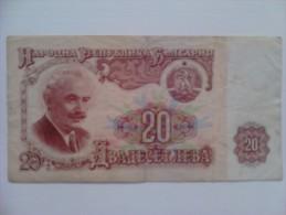Billete Bulgaria. 20 L. 1974. - Bulgaria