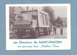 SAINT-GRATIEN (95) CALENDRIER ANNEE 1982  LES EBOUEURS  CAMION BENNE - Calendriers