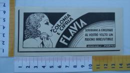 Pubblicita´ COLONIA E CIPRIA FLAVIA BORSARI PARMA  Igiene Farmaceutica - Ritaglio 1935 Advertising - (P01) - Reclame