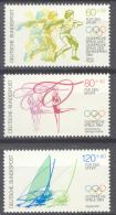BL3-116 GERMANY 1984 MI 1206-1208 SPORT, OLYMPICS, SEGELN, VOILE, TURNEN, GYMNASTICS. MNH, POSTFRIS, NEUF**. - Zomer 1984: Los Angeles