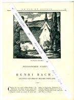 Alsace H. BACHER Graveur Peintre Sur Bois Saint-Hippolyte Aachen Strasbourg - Incisioni
