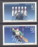 BL3-119 GERMANY 1984 MI 1238-1239 SPORT, WILDWATER KANOEN, KAYAK, KANUSLALOM. MNH, POSTFRIS, NEUF**. - Rafting