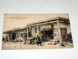Carte Postale Ancienne : TURKMENISTAN , TOURKESTAN , Marchand De Poteries, RARE - Turkménistan