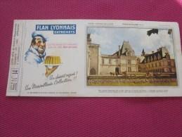 BUVARD Publicitaire :Flan Lyonnais Entremet Château De La Loire Villandry  N° 14 >> ( Photos Recto Verso) - Food