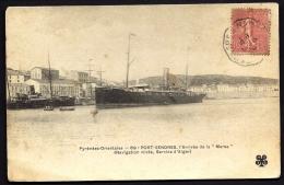 """CPA ANCIENNE- FRANCE- PORT-VENDRES (66)- ARRIVÉE DE LA """"MARSA"""" EN TRES GROS PLAN- - Port Vendres"""