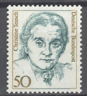 BL3-133 GERMANY 1986 14 STAMPS FAMOUS GERMAN WOMEN, BERUHMTE FRAUEN, BEROEMDE VROUWEN. MNH, POSTFRIS, NEUF**. - Beroemde Vrouwen