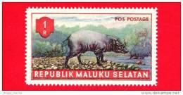 Etichette Di Fantasia -  1955 - Republik Maluku Selatan - Animali Della Foresta - Pos Postage - 1 - Altre Collezioni