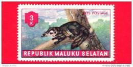 Etichette Di Fantasia -  1955 - Republik Maluku Selatan - Animali Della Foresta - Pos Postage - 3 - Altre Collezioni