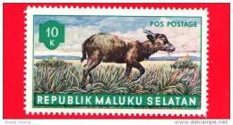 Etichette Di Fantasia - 1955 - Republik Maluku Selatan - Animali Della Foresta - Pos Postage - 10 - Altri