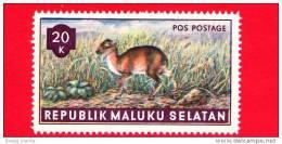 Etichette Di Fantasia - 1955 - Republik Maluku Selatan - Animali Della Foresta - Pos Postage - 20 - Altre Collezioni