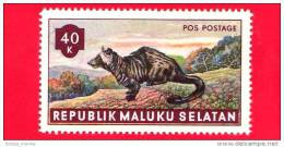 Etichette Di Fantasia - 1955 - Republik Maluku Selatan - Animali Della Foresta - Pos Postage - 40 - Altre Collezioni