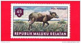 Etichette Di Fantasia - 1955 - Republik Maluku Selatan - Animali Della Foresta - Pos Postage - 45 - Altre Collezioni