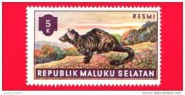 Etichette Di Fantasia - 1955 - Republik Maluku Selatan - Animali Della Foresta - Resmi - 5 - Altre Collezioni