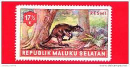 Etichette Di Fantasia - 1955 - Republik Maluku Selatan - Animali Della Foresta - Resmi - 17.5 - Altre Collezioni