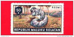 Etichette Di Fantasia - 1955 - Republik Maluku Selatan - Animali Della Foresta - Resmi - 50 - Altre Collezioni