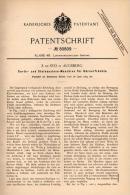 Original Patentschrift - E. De Syo In Augsburg ,1894, Steinauslesemaschine Für Körnerfrüchte , Agrar , Landwirtschaft !! - Maschinen