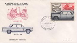 MALI  BAMAKO  Peugeot 1893  Peugeot 404   30/05/69 - Voitures