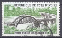 Cote D´Ivoire Poste Aérienne YT N°62 Pont Sur Le Sassandra Oblitéré ° - Côte D'Ivoire (1960-...)
