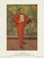 SOUBRY :Prent/Image 30–1: H. EVENEPOEL :  ## De Man In Het Rood / L´homme En Rouge : Paul Baignières ## - Estampes & Gravures