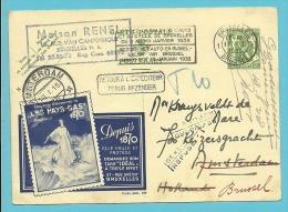 "Publibel 290 Met Stempel BRUXELLES Naar Amsterdam (Nederland) ""potlood T10"" (taxe) , Stempel REFUSE/GEWEIGERD + RETOUR.. - Stamped Stationery"
