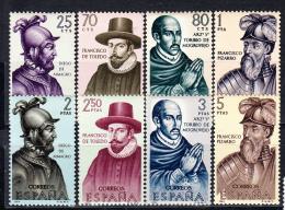 ESPAÑA 1964.FORJADORES DE AMERICA.EDIFIL Nº 1622/1629 .NUEVOS SIN CHARNELA    SES 121 - 1931-Hoy: 2ª República - ... Juan Carlos I