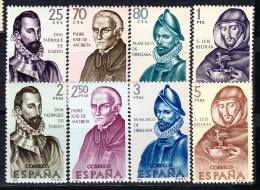 ESPAÑA 1965.FORJADORES DE AMERICA.EDIFIL Nº 1678/1685 .NUEVOS SIN CHARNELA    SES 121 - 1931-Hoy: 2ª República - ... Juan Carlos I