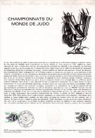 """FRANCE 1979 """" CHAMPIONNATS DU MONDE DE JUDO """" Sur Document Officiel 1°Jour N° YT 2069. Parfait état ! DPO"""