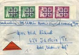 1962  Nachnahma Brief Evangelister Kirchentag MiNr 215 X2, 216 X2 - Berlin (West)