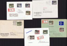 Alt-Berlin 5 Briefe Mit Alt-berlin Briefmarken MiNr 218-229 - Berlin (West)