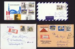 Nueu Berlin 2 Briefe Und 2 Postkarte Mit Nueu Berlin Briefmarken  MiNr 254-262 - Berlin (West)