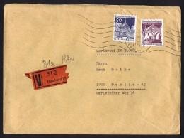 1969  Wertbrief  MiNr 285, BP MiNr 495 - Berlin (West)
