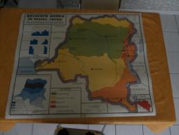 Belgisch Kongo En Ruanda-Urundi: Mijnbouw - Krachtbronnen - Plantenassociaties - Cartes