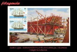 TRASTERO. CUBA. ENTEROS POSTALES. TARJETAS MÁXIMAS 1996. BARCOS VELEROS. EN PARES - Maximumkarten