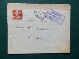 38/262   LETTRE 1916 POUR GENEVE - Marcofilie (Brieven)