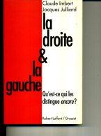 LA GAUCHE ET LA DROITE CLAUDE IMBERT J . JULLIARD 280 PAGES EN 1995 ED LAFFONT GRASSET - Politique Contemporaine
